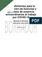 28-01-2021-BORRADOR PROCEDIMIENTOS PERMISOS COVID