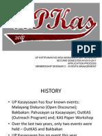 UP Kasaysayan Events Management Module