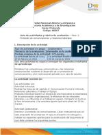 Guia de actividades y Rúbrica de evaluación - Paso  2 - Protocolo de comunicaciones y  relaciones laborales (1)