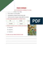 Comprensión de Textos Paco Yunque