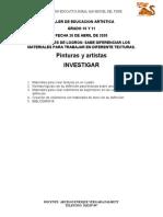 TALLER DE ARTISTICA  GRADO 10 Y 11