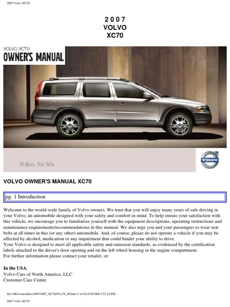 2007 volvo xc70 owners manual free owners manual u2022 rh wordworksbysea com 2004 volvo xc70 owners manual 2002 volvo v70 xc repair manual