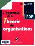 Lessentiel de la Theorie des Organisations, Roger Aim