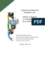 Propuesta Reglam Tipo COSOC, CPP, 2011