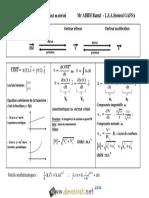Cours - Sciences Physiques - Resumé Cinématique - 3ème Toutes Sections (2015-2016) Mr ABIDI Ramzi