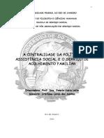 A CENTRALIDADE DA POLÍTICA DE ASSISTÊNCIA SOCIAL