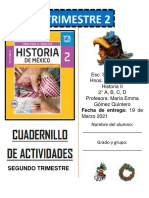 Cuadernillo HISTORIA 2A, 2B, 2C, 2D