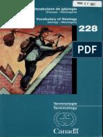 Livre Vocabulaire Anglais-Francais de Géologie (Gîtologie-M étallogénie) Canada 1997- Mariette  Grandchamp-Tupula