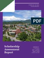 scholarship assessment report