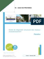 Etude de diagnostic structurel des réseaux d'assainissement