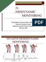 Invasive Hemodynamic for Prep and Recovery