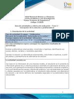 Guía de Actividades y Rúbrica de Evaluación - Unidad 1 - Fase 2 - Concepción de La Solución a Problemáticas Industriales
