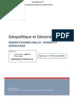 SAMID Mariem - 16009776- EXAMEN FINAL Géopolitique Et Géostratégie