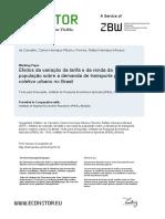 Efeitos da variação da tarifa e da renda da população sobre a demanda de transporte público coletivo e urbano no Brasil
