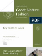 White and Green Elegant Corporate Fashion Brand Guidelines Presentation