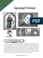 IV Bim - HP - 2do Año - Guía 2 - La Religiosidad Virreinal