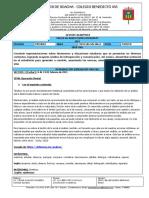 TALLER  DE AUSENTISMO CIENCIAS SOCIALES ESTUDIANTE 9º