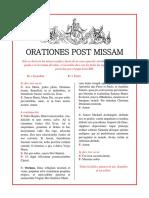 Orationes post missam (latín - español)