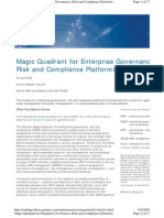 2008 - Magic Quadrant for Enterprise GRC Systems