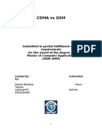 MCA CDMA vs GSM