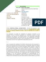 SP1392-2015 adición, modificación, retiro de acusación