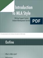 MLA Style - Presentation