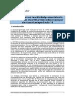 PLAN DE RETORNO A LA ACTIVIDAD PRESENCIAL ACTUALIZADO (24-06-2020)