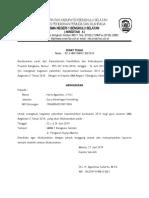 surat tugas pelatihan