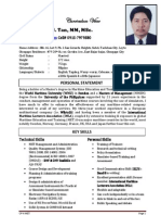7 page CV-Generic For MET