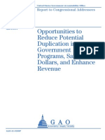 GAO Report Waste