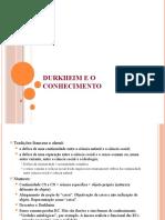 Durkheim_sociologia do conhecimento