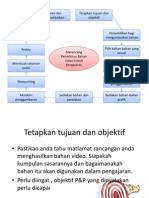 Rancangan Penerbitan Video