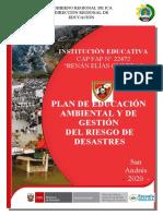 PLAN DE EDUCACIÓN AMBIENTAL Y GESTIÓN DE RIESGO 2020