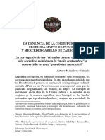 Arturo Manrique Guzmán - La denuncia de la corrupción en Clorinda Matto de Turner y Mercedes Cabello de Carbonera