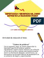 IMPORTANCIA Y BENEFICIO DEL JUEGO MOTRIZ EN LA