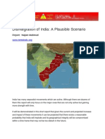 Disintegration of India