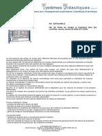 Fiche Technique EWTGUHM122 - HM 122 Pertes de Charges Et Frottement Dans Des Conduites, Vannes, Mesure de Débit (070.12200)