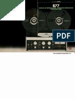 487703532 Revox B77 Reel to Reel Recorder Operating Instructions PDF