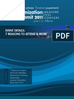 Optimization Summit 2011 - 7 Reasons to Attend & More
