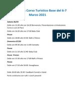 Programma Corso Turistico Base Del 6 -7 Marzo 2021