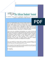 THE AFRICAN STUDENTS' JOURNAL - NO 1