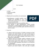 test 3 Semiologie