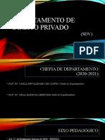 DEPARTAMENTO DE DIREITO PRIVADO - Apresentação