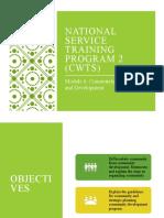 Module 6- NSTP 2 Community Organization and Development