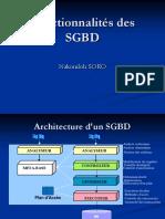 Fonctionnalites SGBD