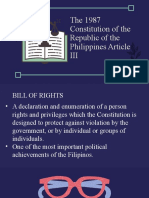 Group 2 the 1987 Constitution of the Republic of the Philippines Article III
