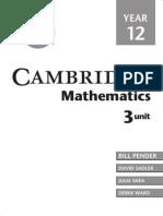 Cambridge Maths Year 12 3-Unit