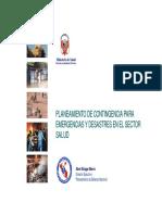 Planeamiento Contingencia Emergencias Desastres Sector Salud