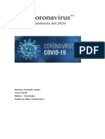 Tarea sobre el coronavirus