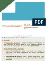 Instrumentos Financeiros - NCRF 27